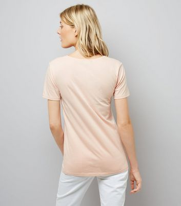 Tall Pink Scoop Neck T-Shirt New Look