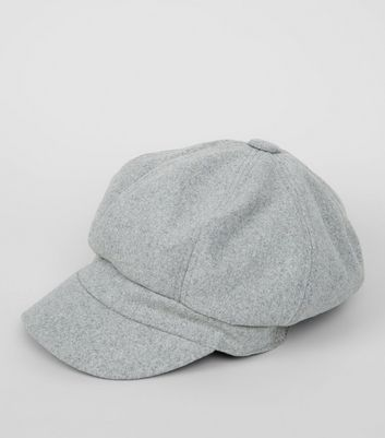 Grey Baker Boy Hat New Look