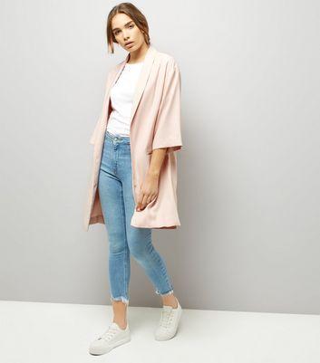 Pink Longline Kimono New Look