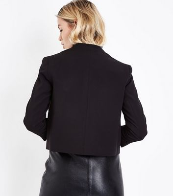 Black Crepe Blazer New Look