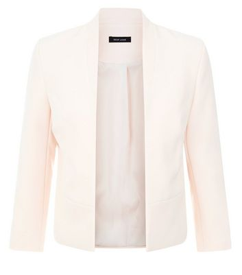 Shell Pink Crepe Blazer New Look