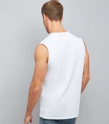 White Ibiza Is Calling Slogan Tank Top New Look