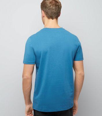 Blue Cream Ibiza Logo T-Shirt New Look