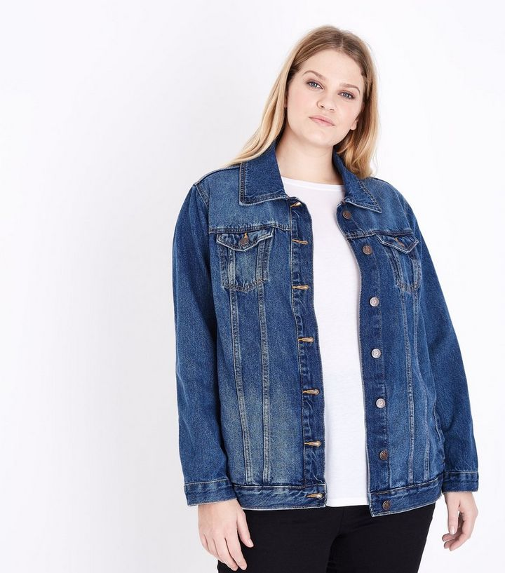 057ae5624 Curves Blue Oversized Denim Jacket Add to Saved Items Remove from Saved  Items