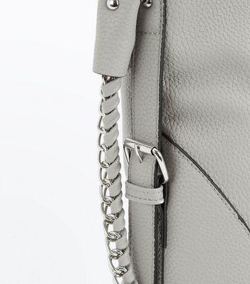 Grey Textured Oversized Shoulder Bag New Look
