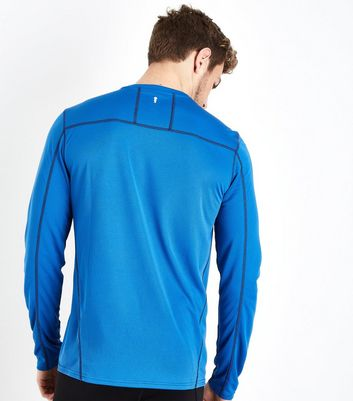 Bright Blue Long Sleeve Sports Top New Look