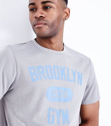 Grey Brooklyn Gym T-Shirt New Look