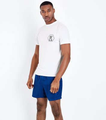 White Brooklyn Running Club Sports T-Shirt New Look