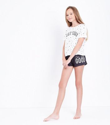 Teens White I Got This Slogan Pyjama Set New Look