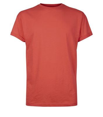 Red Cotton Short Sleeve T-Shirt New Look