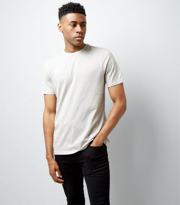 Stone Crew Neck T-Shirt New Look