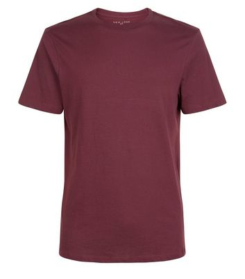 Burgundy Crew Neck T-Shirt New Look