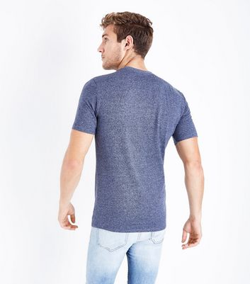 Blue Marl T-Shirt New Look