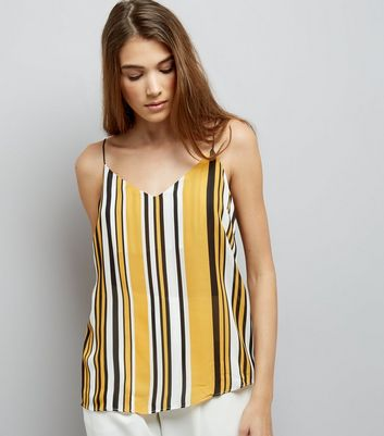 Tall Yellow Stripe Cami Top New Look