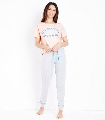 Light Pink Cats Forever Pyjama Set New Look