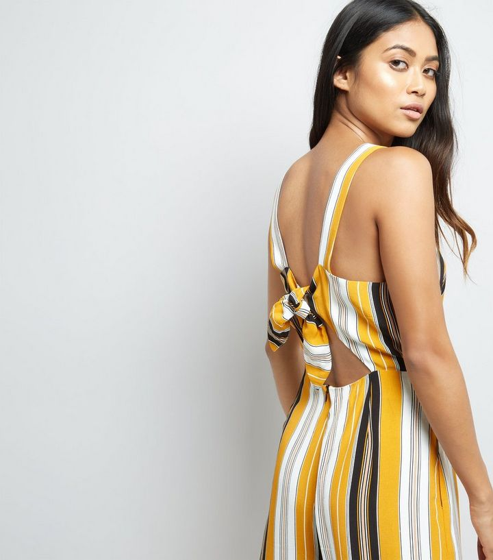 a212aafd78af ... Petite Yellow Stripe Tie Back Culotte Jumpsuit. ×. ×. ×. Shop the look