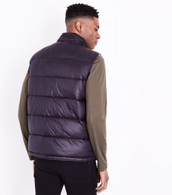 Black Puffer Gillet New Look