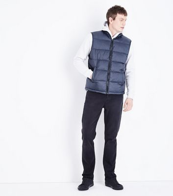 Blue Puffer Gillet New Look
