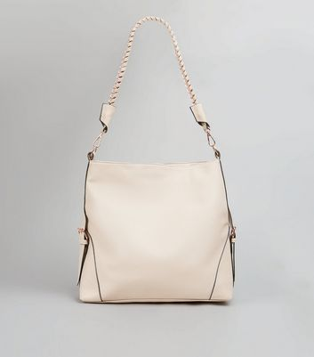Shell Pink Hobo Bag New Look