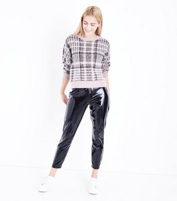 Pink Check Jumper New Look