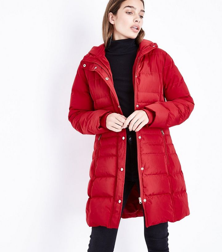 02c0778a2e9 Blue Vanilla Dark Red Hooded Longline Puffer Jacket Add to Saved Items  Remove from Saved Items