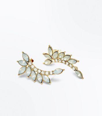 2 Pack Opal Leaf Ear Cuffs New Look