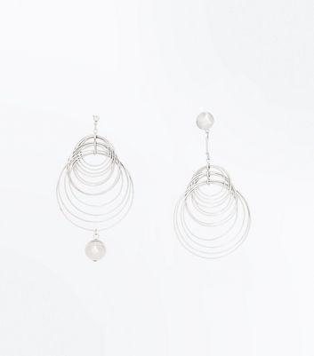 Silver Multi Ring Earrings New Look