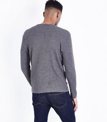 Light Grey Waffle Knit Longsleeve Top New Look