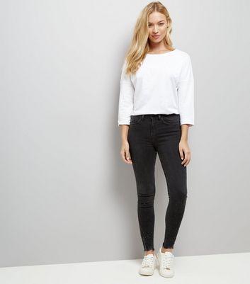 Black Bead Embellished Ankle Grazer Skinny Jenna Jeans