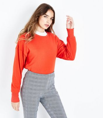 Red Cropped Sweatshirt New Look