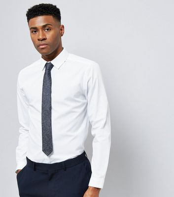 Navy Speckled Tie New Look