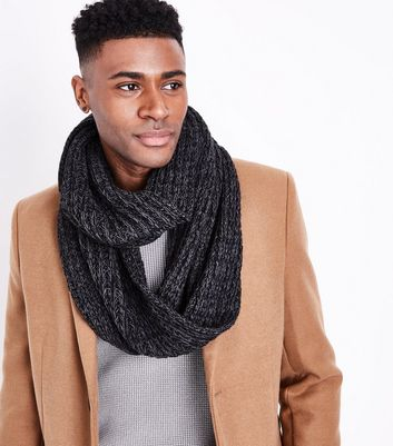 Black Textured Snood New Look