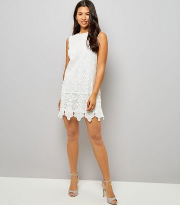 Mela White Lace Shift Dress New Look