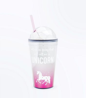 Silver Fairy Dust Unicorn Slogan Cup New Look