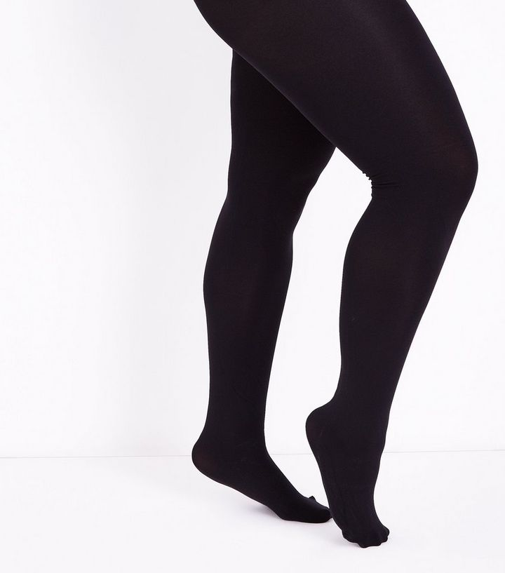 b594d8c474cd4 Curves Black 200 Denier Tights | New Look