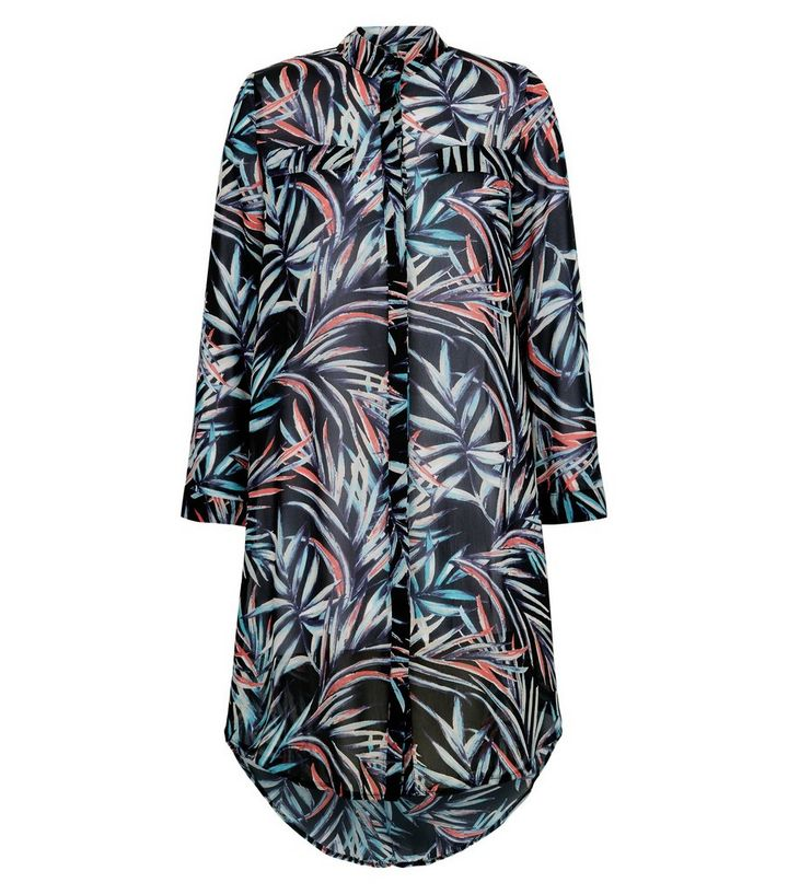 2026856725 ... Apricot Blue Tropical Print Longline Shirt Dress. ×. ×. ×. Shop the look