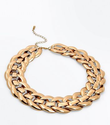 Gold Chunky Chain Link Necklace New Look