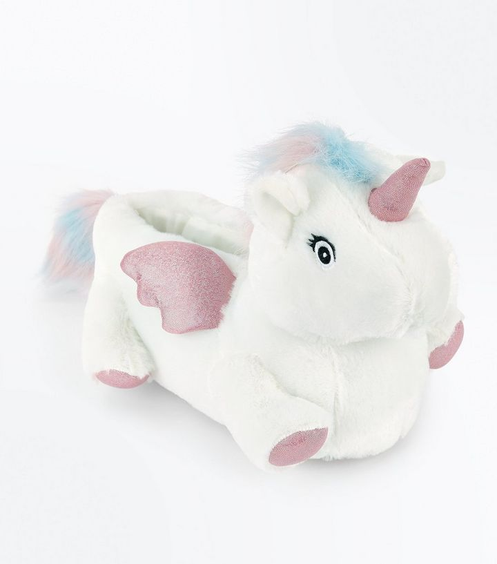 White Unicorn Slippers  65fdfbf0e