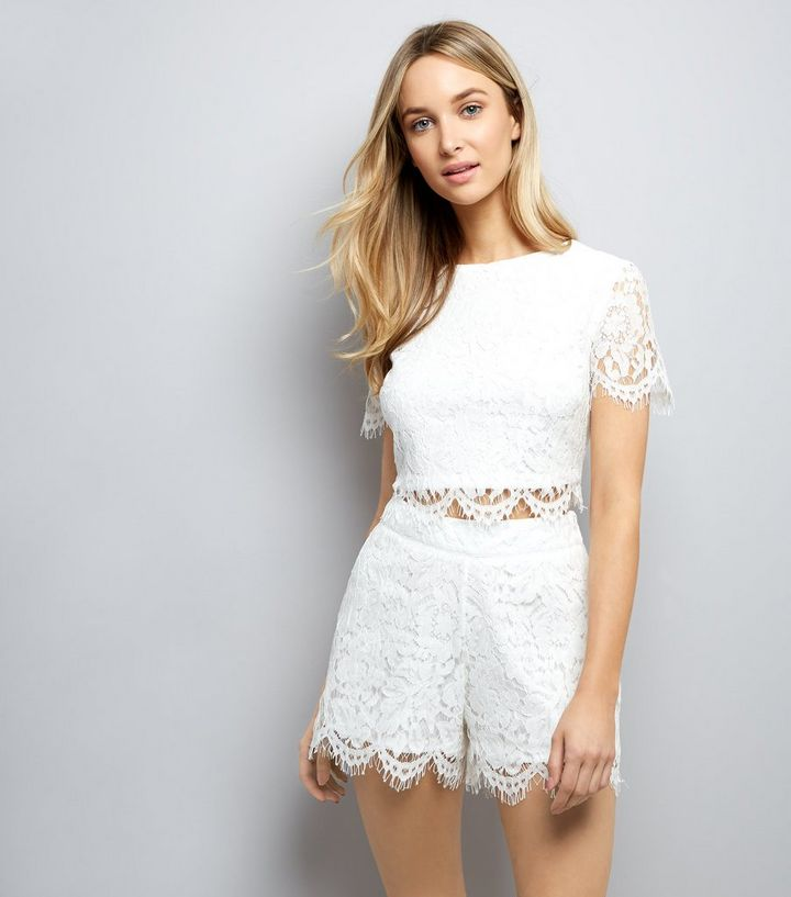 5113d3fbd385e White Lace Shorts Add to Saved Items Remove from Saved Items