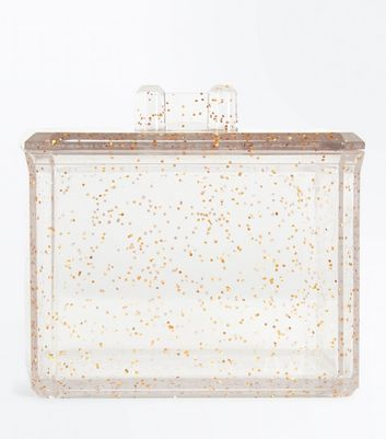Rose Gold Glitter Square Cosmetics Pot New Look