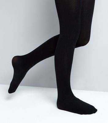Teens 2 Pack Black 70 Denier Tights New Look