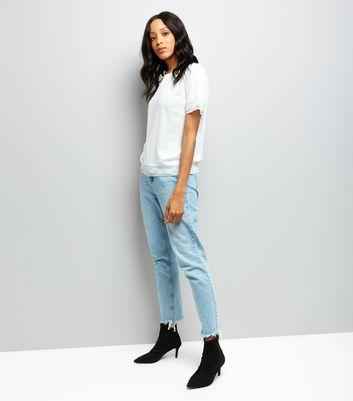 Cream Lace Trim Short Sleeve T-Shirt New Look