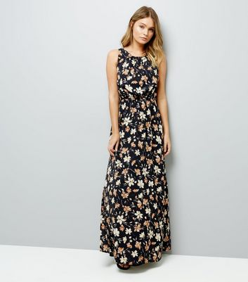 Mela Multi-Coloured Floral Print Maxi Dress New Look