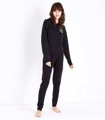 Tall Black In Your Dreams Pyjama Joggers New Look