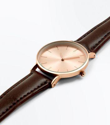 brown-metallic-face-watch