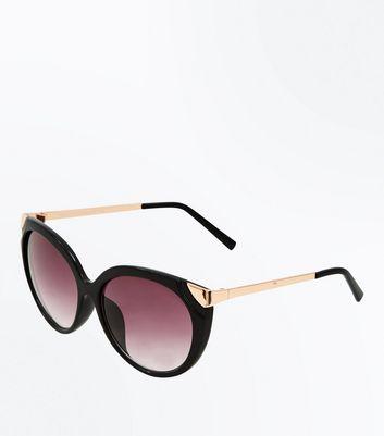Black Frame Cateye Sunglasses New Look