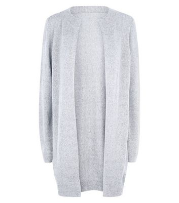 JDY Pale Grey Longline Cardigan New Look