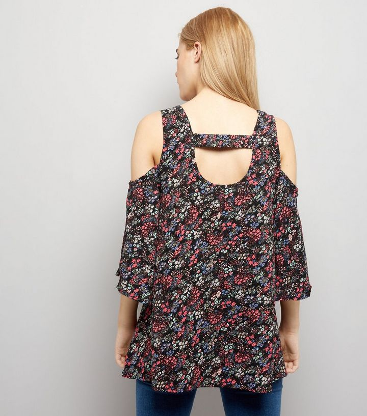 df0479d89ae9b ... Ditsy Floral Print Cold Shoulder Top. ×. ×. ×. Shop the look