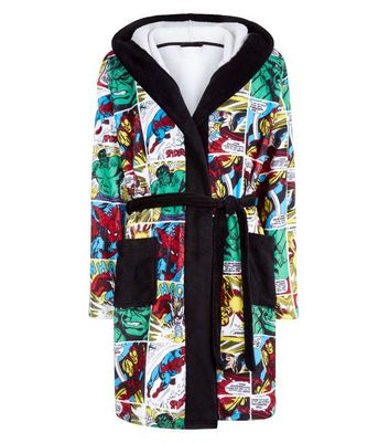 Multi Colour Marvel Dressing Gown New Look