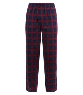 Red Check Pyjama Bottoms New Look